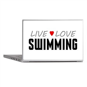 Live Love Swimming Laptop Skins