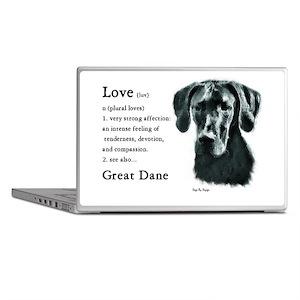 Black Great Dane Laptop Skins