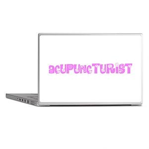 Acupuncturist Pink Flower Design Laptop Skins