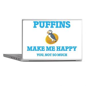 Puffins Make Me Happy Laptop Skins