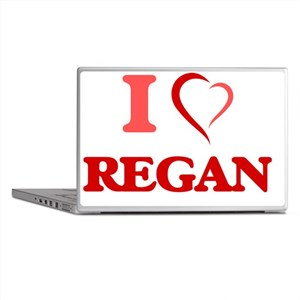 I Love Regan Laptop Skins