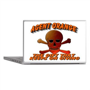 AGENTORANGE WITH SKULL Laptop Skins