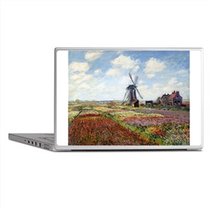 Monet Fields Of Tulip Laptop Skins