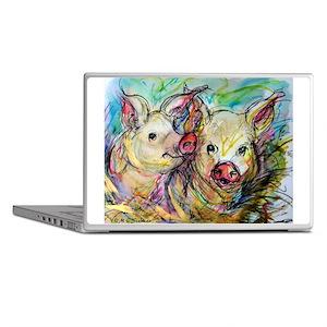 piglets, pig pair Laptop Skins