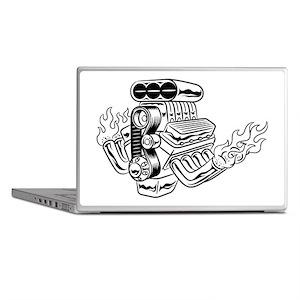Hot Rod Engine Laptop Skins