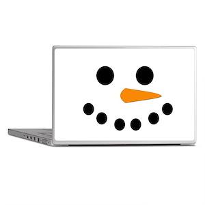 Snowman Face Laptop Skins