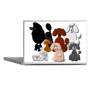 TINY POODLE PACK COLLAGE Laptop Skins