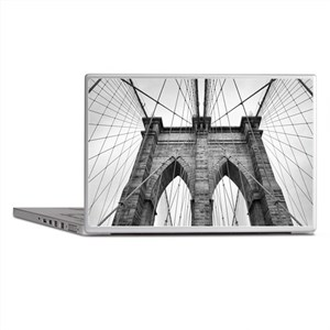 Brooklyn Bridge New York City close u Laptop Skins