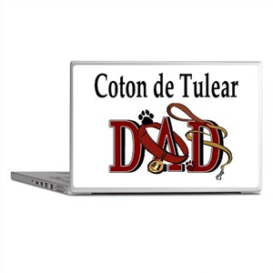 Coton de Tulear Dad Laptop Skins