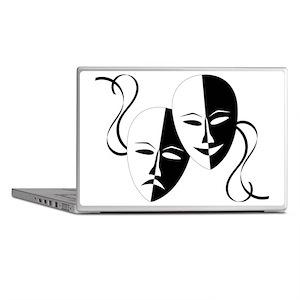 Theater Masks Laptop Skins