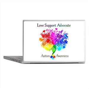 Autism Spectrum Tree Laptop Skins