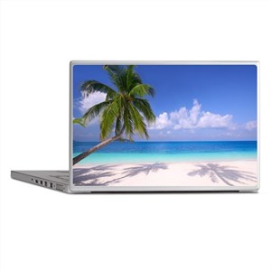 Tropical Beach Laptop Skins