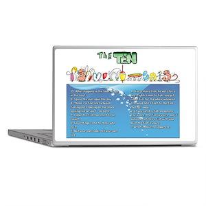 The Ten Fishmandments Laptop Skins