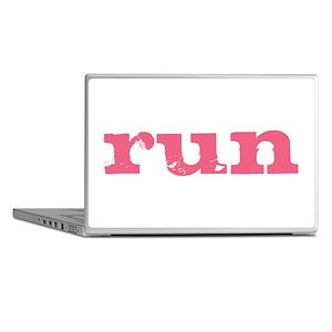 run - pink Laptop Skins