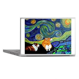 Corgi Starry Starry Night Laptop Skins