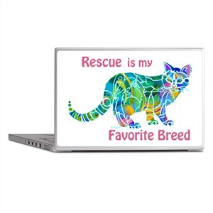 RESCUE is Favorite Breed CATS Laptop Skins