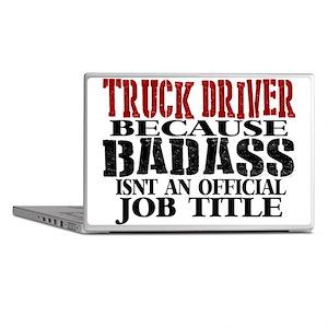 Badass Trucker Laptop Skins