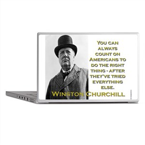 You Can Always Count On Americans - Churchill Lapt