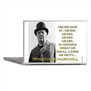 Never Give In - Churchill Laptop Skins