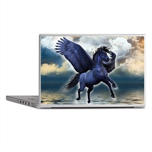 Black Pegasus Laptop Skins