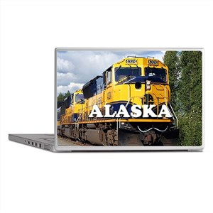 Alaska Railroad engine locomotive 2 Laptop Skins