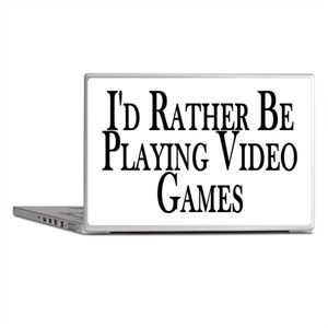 Rather Play Video Games Laptop Skins