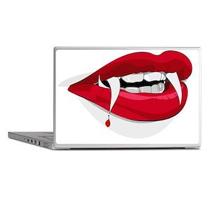 Halloween Vampire Teeth Laptop Skins