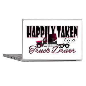 Happily Taken - Truck Driver Laptop Skins
