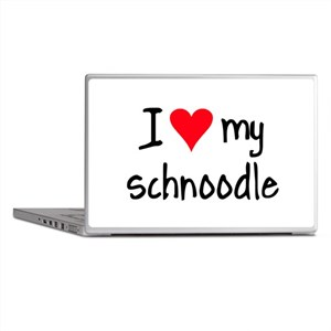 I LOVE MY Schnoodle Laptop Skins