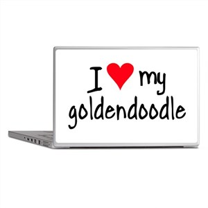 I LOVE MY Goldendoodle Laptop Skins