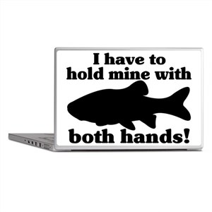 Hold My Fish With Both Hands Laptop Skins