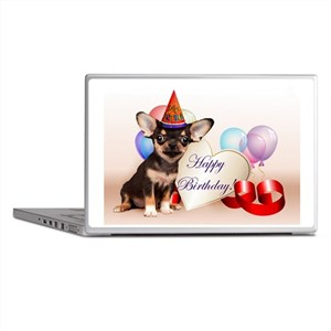 Happy Birthday Chihuahua dog Laptop Skins