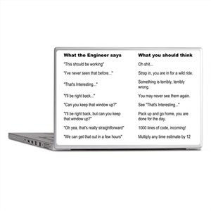Engineer Translation Guide Laptop Skins