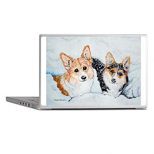 Corgi Snow Dogs Laptop Skins