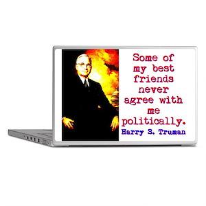 Some Of My Best Friends - Harry Truman Laptop Skin