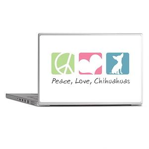 Peace, Love, Chihuahuas Laptop Skins