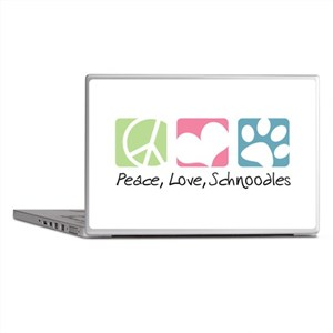 Peace, Love, Schnoodles Laptop Skins