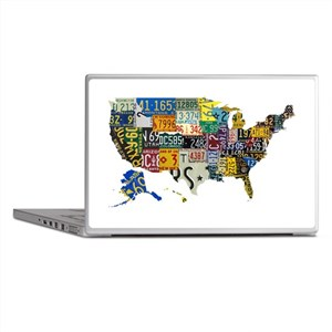 america license Laptop Skins