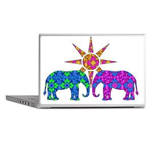 Colorful Elephants Laptop Skins