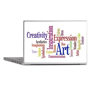 Art and Inspiration Word Clou Laptop Skins