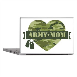 Camo Heart Army Mom Laptop Skins