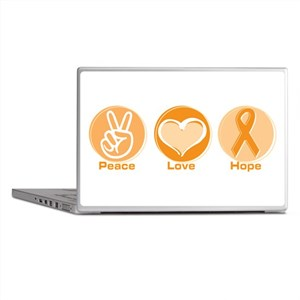 Peace Love Orange Hope Laptop Skins