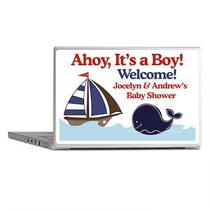 Ships Ahoy Its a boy Sign Laptop Skins