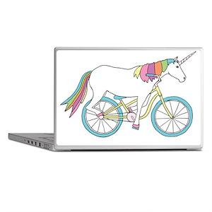 Unicorn Riding Bike Laptop Skins