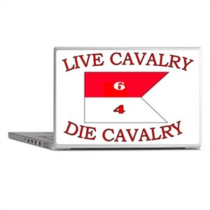 6th Squadron 4th Cavalry cap 4 Laptop Skins