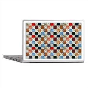 Colorful quilt pattern Laptop Skins