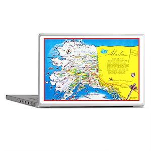 Alaska Map Greetings Laptop Skins