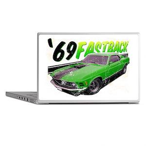 69-Ford-Mustang-FastBack Laptop Skins
