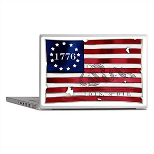 1776_american_flag_old copy Laptop Skins