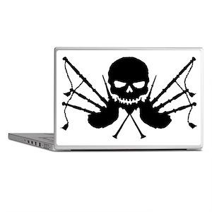 Skull & Crossdrones, Black Laptop Skins